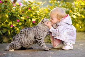 Choosing a Pet for a Child Guidelines - Cat and baby girl