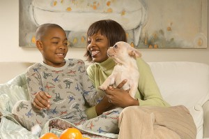 Choosing a Pet for a Child Guidelines - Family and dog