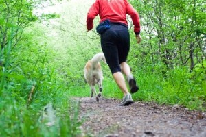 Going for a run is a simple way to exercise with your dog