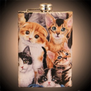 Cat Hip Flask by Etsy