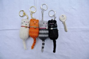 Cat keyrings by Etsy