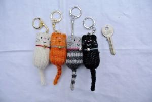 Cat keyrings by Etsy