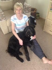 Jennie Falconer has pet insurance for her springerdoodle Max