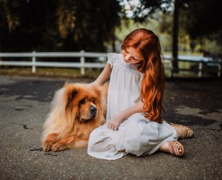 health benefits of owning a pet - girl with dog