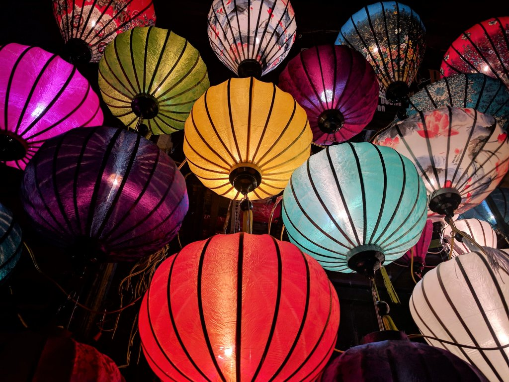 Chinese New Year - Multi-coloured Chinese lanterns