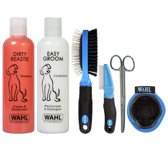 Wahl Dog Lovers' Tool Kit with Shampoos, Conditioners, Two Brushes, Scissors and a Comb Valentine's Gift Idea